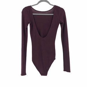 Wilfred free burgundy long sleeve bodysuit